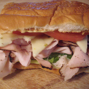 A Turkey Pastrami Sandwich