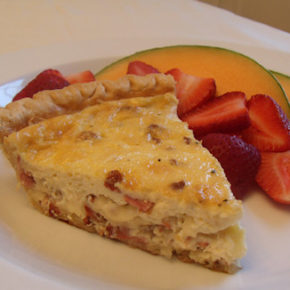 Quiche Lorraine & Fresh Fruit
