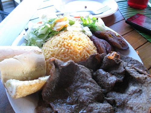 Steak, Black Beans and Rice