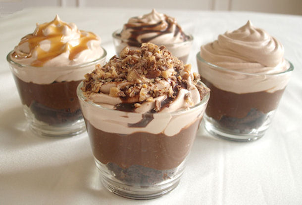 Individual Brownie Bite Trifles