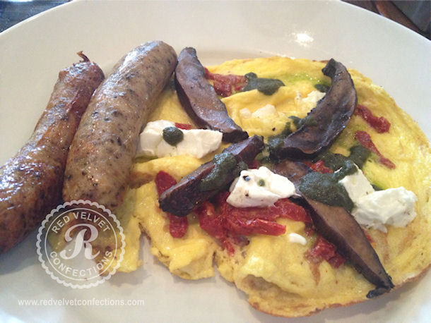Portobello Frittata w Chicken Sausage Links