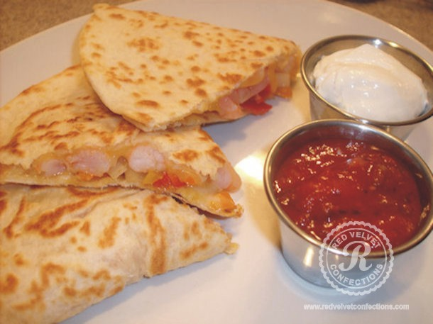 shrimp quesdilla