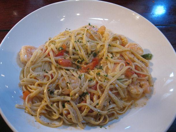 calypso shrimp linguine