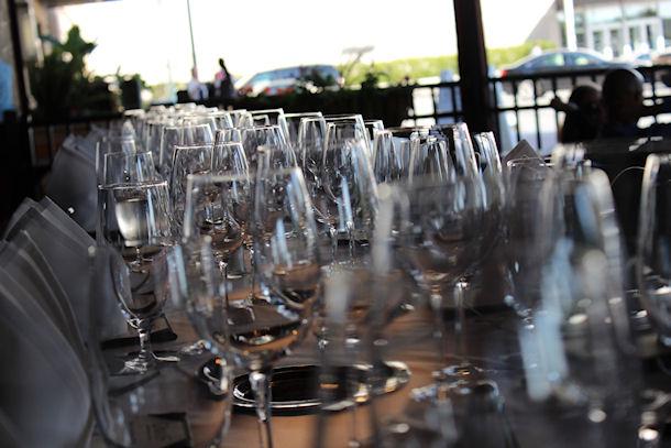 Davio's wine glasses