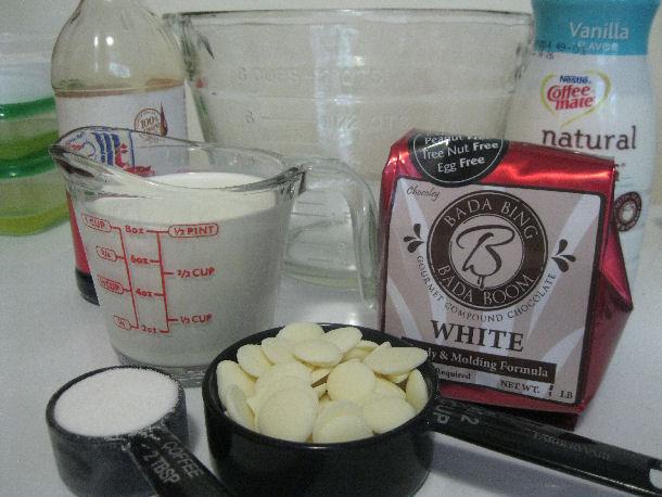 10 white chocolate