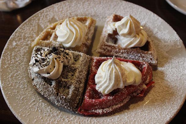 4 waffles