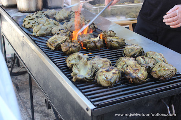 6 Grilled Artichokes w Aioli