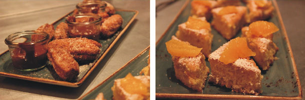 Churros and Almond Cake