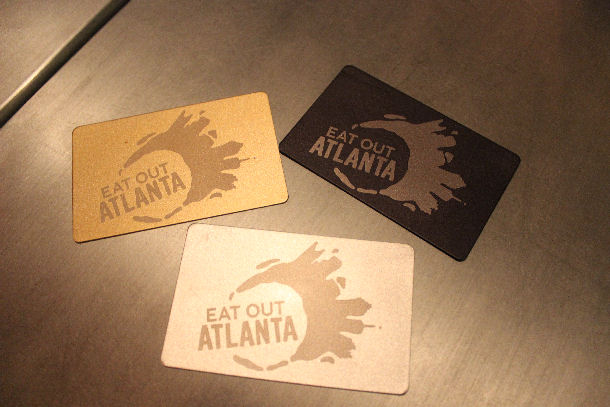 13 Eat Out Atlanta membership cards