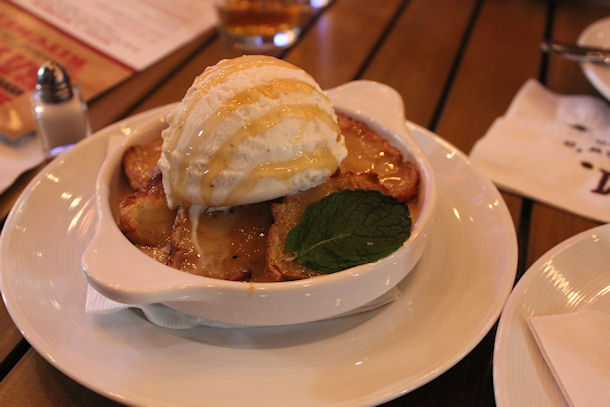 5 honey bourbon bread pudding