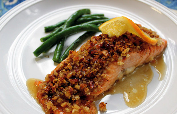 9 honey bourbon salmon