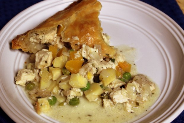 9 chicken pot pie slice