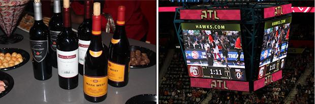 2 wine and scoreboard