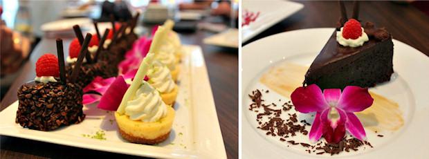 5 dessert platter and cake